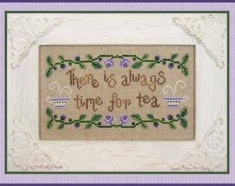 "COUNTRY COTTAGE NEEDLEWORKS ""Time for Tea"" 