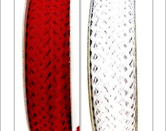 3 metres Berties Bows 5mm Mini RicRac Trim, Red or White, ric rac, trimmings, embellishments, craft supplies, UK seller, sewing, Christmas