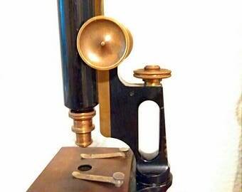 Antique Bausch and Lomb  Microscope Original Brass Eyepiece Included
