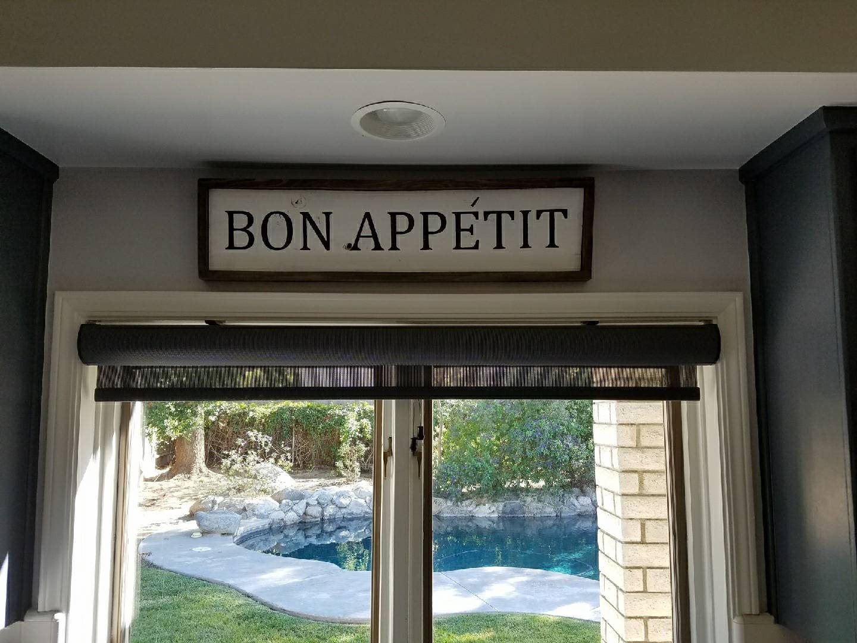 Bon Appetit Wooden Sign, Dining Room Sign, Kitchen Sign, Bon Appetit, Eat