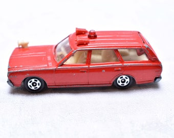 0079 Nissan Cedric Wagon, Fire Chief Car, Red 1974 Made