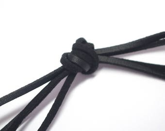 Black Suede, leather effect, a measuring tape coupon