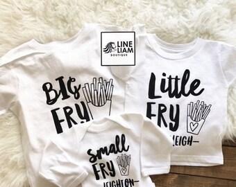 ENDS AT 12AM big middle little shirt, big brother shirt, big sister shirt, little brother shirt, little sister shirt, sibling shirts, baby g