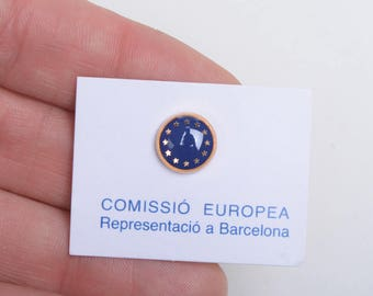 Lapel pin, enamel pin, enamel lapel pin, European Union, political pins, Europe