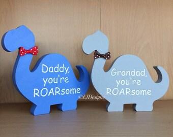 Daddy Dinosaur gift, Grandad Dinosaur Gift, Father's Day Gift