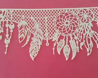 Edible Lace  - American Native Dream Catcher Cake Decorating Topper
