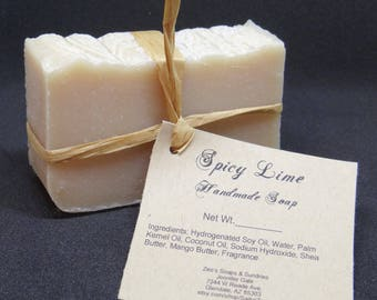 Spicy Lime Handmade Cold Process Soap