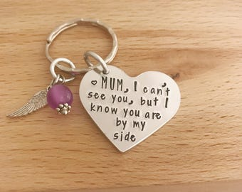 Loss Of Mother, Rememberance Gift, Loss Of MuM, Loved One, My Mum Is My Angel, Sympathy Gift, In Memory Of Gift, Angel Wing Keyring,  Angel