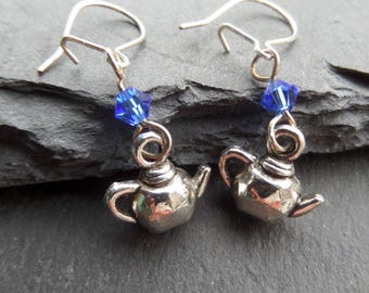 Tea Pot Earrings - gift for mum - tea gift - tea drinker gift - food and drink gift - tea time - tea party gift
