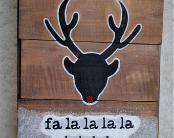 Fa La La / Holiday Wood Sign