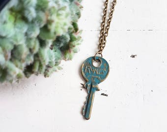 Key Necklace // Steampunk Jewelry // Steampunk Necklace //21st Birthday Gift