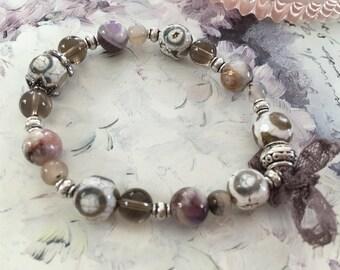 Bracelet romantic gemstones: natural color