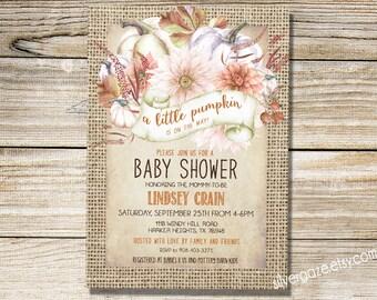 little pumpkin baby shower invitation, Fall Baby Shower Invitation, Printable Invite Gender Neutral _172