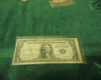 1935 G Washington 1 Dollar Silver Certificate Bill