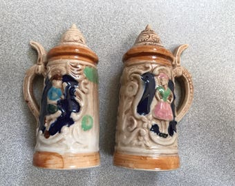 Vintage Beer Stein Salt & Pepper Shakers