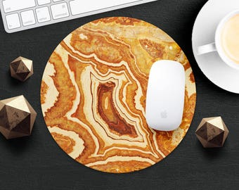 MousePad Marble Mouse Pad Agate MouseMat Round MousePad Idea Gift Style Beige Print Fabric Mouse Mat Mice Desk Accessories Tile MousePad
