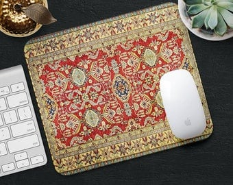 Mouse Pad Classic Rug Mouse Mat Red Persian Carpet MousePad Desk Accessories Mouse Pad Round Mouse Mat Persian Rug Mouse Pad Office Gift Him