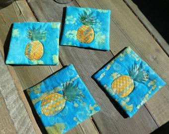 Pineapple Coasters (blue)