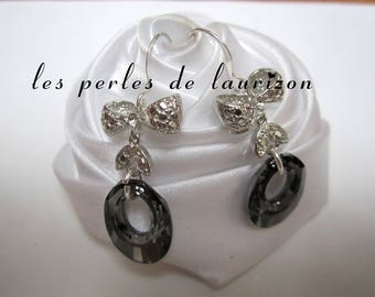 Earrings small Crystal knot