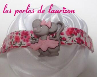 Cute little mouse pink bracelet