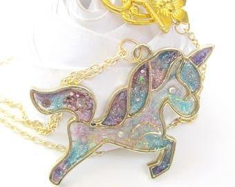 Unicorn glitter color of summer