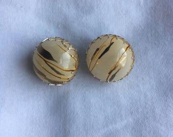 Vintage Earring, Hong Kong Earring,