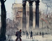 Rome watercolor painting