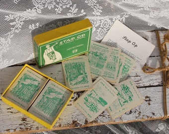 Step on card Game/Gezelschapsspel/Retro/Vintage/CA 1945/Bike game/Jeugherberg/SIO/forest/dune/Rijwile/against Wind/Scouts/Old