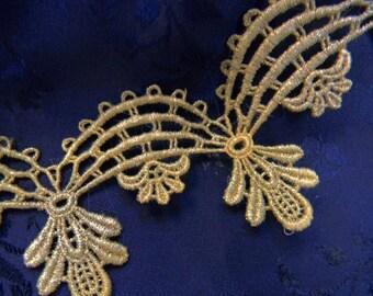 Vintage Metallic Venise Lace