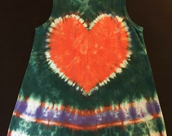 Girl's size (6) tie-dye cotton tank sundress