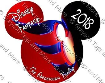 Extra Large Custom Funnel Head Disney Cruise Door Magnet