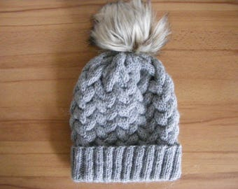 Knit Girl Hat, Cable knit Hats For Girls, Knitted Girls Hats, Winter Hat for Kids