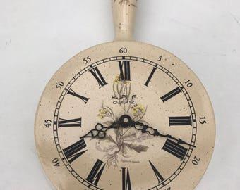 Clock pendulum KIPLE Quartz design Vintage ceramic pot