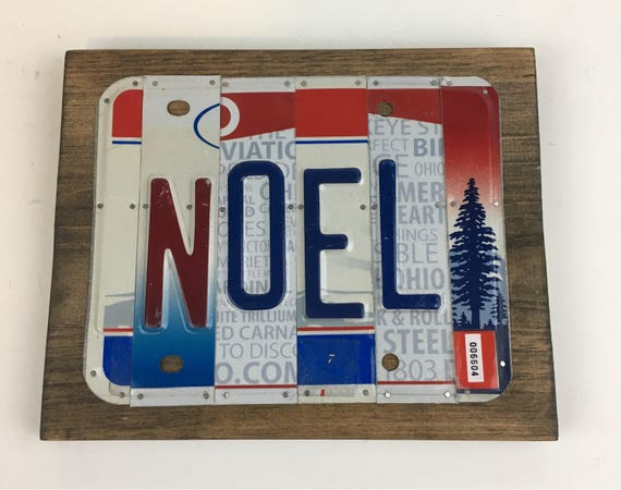 Noel License Plate Sign, Christmas signs, gifts for men, gifts for women, license plate art