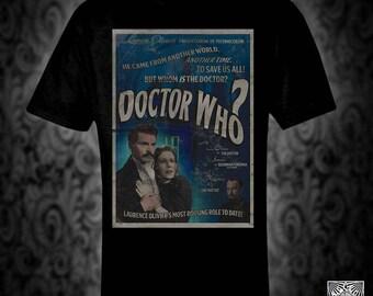 Doctor Who vintage style movie poster T-shirt, the master tardis scifi sci-fi retro film birthday christmas valentine
