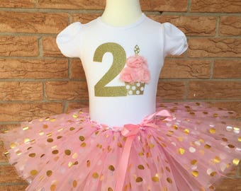 Second birthday outfit for girls, 2nd birthday shirt, birthday outfit for 2 year old girl, turning two tutu, girl's second birthday