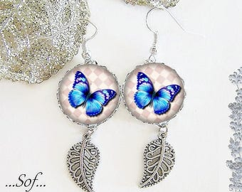 The 18 mm cabochon posts * Butterfly * (040218)