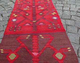 kilim rug runner,1'96''x10'76'' 24''x129'' 60x328cm