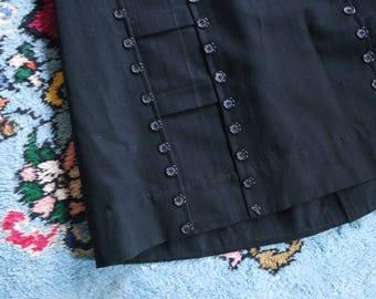 Antique Victorian Work Skirt - Buttons Skirt