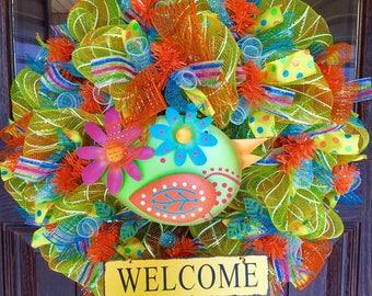 Yellow Summer | Home Decor Wreath Housewarming Gift on Etsy | Door Wreaths By Trina | Wreaths on Etsy | Etsy Wreaths