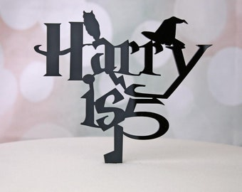 Harry Potter Birthday Cake Topper Kids Personalised Children Cake Decoration in Acrylic