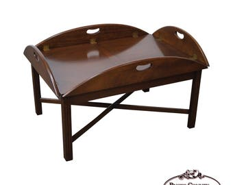 Hickory Chair Mahogany Chippendale Style Butlers Coffee Table