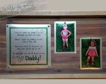 Father's Day Sign- Daddy poem- Dad office sign- Daddy's shoes poem- Aluminum and Wood