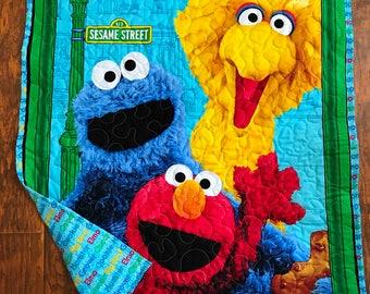 Elmo quilt panel | Etsy : elmo quilt - Adamdwight.com