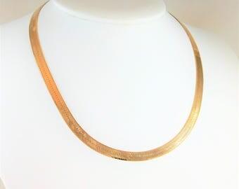 Italian Crafted 14kt Gold 16 inch/5.5mm Herringbone Chain