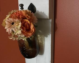 Set of 2 Mason Jar Sconce, Rustic Home Decor, Rustic Sconces, Farmhouse Decor, Hanging Mason Jars, Mason Jar Wall Decor, Shabby chic,
