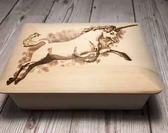 Unicorn Jewelry Box Etsy