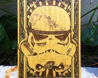 Stormtrooper, Star Wars Wooden Engraving Poster, Starwars Gift, Star Wars Collection, Stormtrooper Poster, Unique Gift Star Wars for Geek