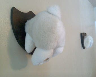 Stuffed Throphy Mounted Bunny Rabbit Wabbit - Upcycled Room Decoration - Hunter Morbid Cute Clever