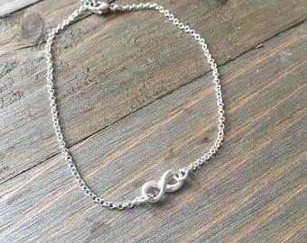 Handmade Sterling Silver Infinity Bracelet